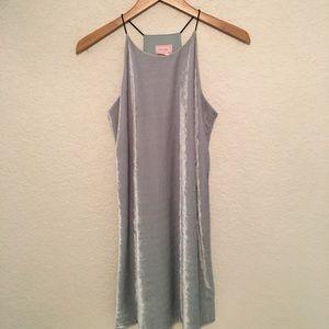 Velvet Mint-Colored Dress